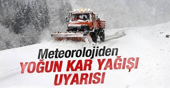 Rize için yoğun kar yağışı uyarısı