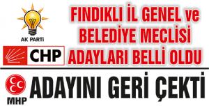 FINDIKLI İL GENEL ve BELEDİYE MECLİSİ...
