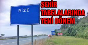 ŞEHİR TABELALARINDA YENİ DÖNEM