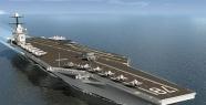 ABD Donanması'nın dev uçak gemisi denize...