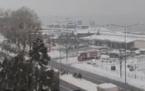 Fındıklı'da kar yağışı